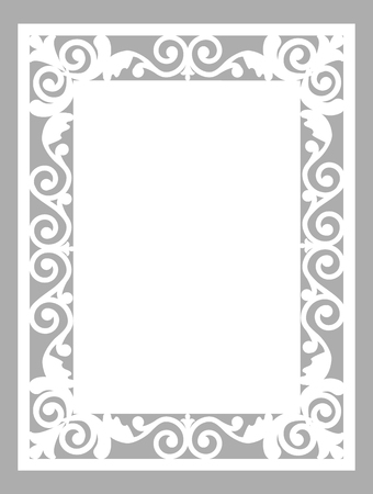 Pattern frame. Template for laser cut card