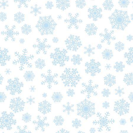 christmas snowflakes: Christmas seamless pattern with blue snowflakes on white background Illustration