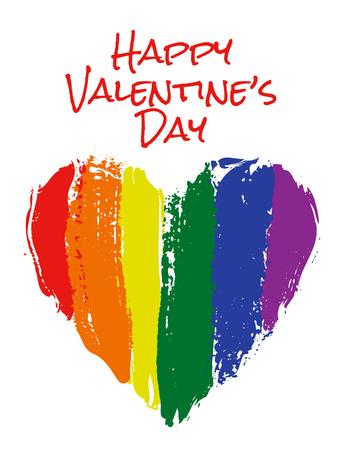 heart in rainbow colors Illustration