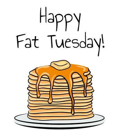 Fat Tuesday Illustration