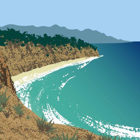 Point Dume Natural Preserve Illustration