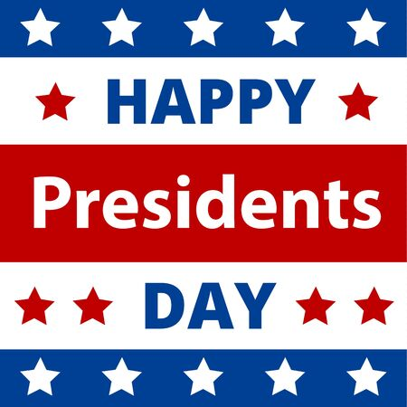 Happy Presidents Day Greeting Card with USA Flag. Illustration