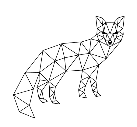 polygonal fox  イラスト・ベクター素材