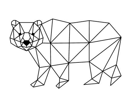 polygonal fox Vector Illustration