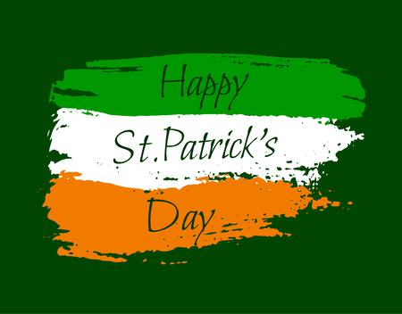irish pride: Happy St. Patrick background Illustration