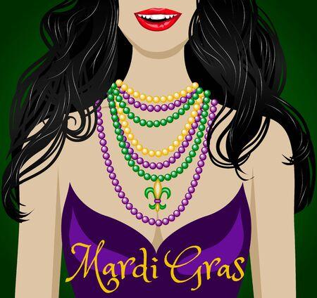 Mardi gras greetings Illustration