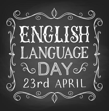 old english: English Language day Illustration