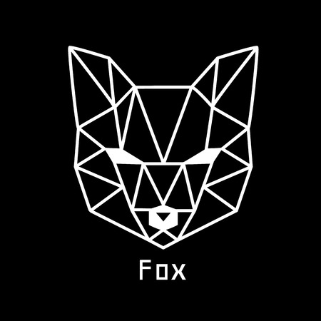 black fox: head of fox