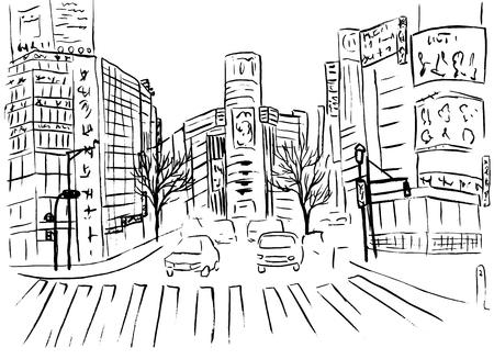 Winkelstraat in Shibuya