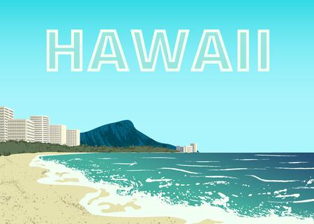 Waikiki beach of Oahu island.