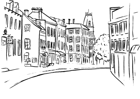 quaint: St Jean Street in Quebec.