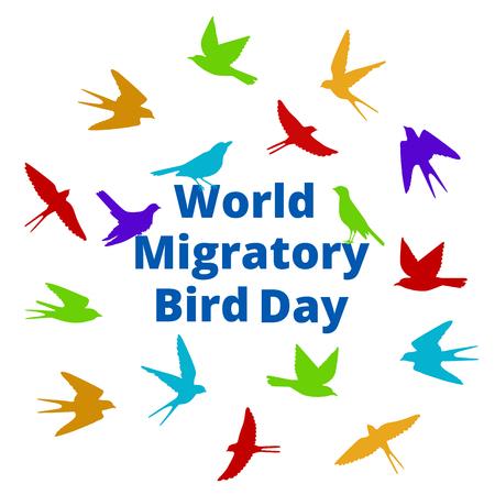 migratory: World Migratory bird day. Illustration