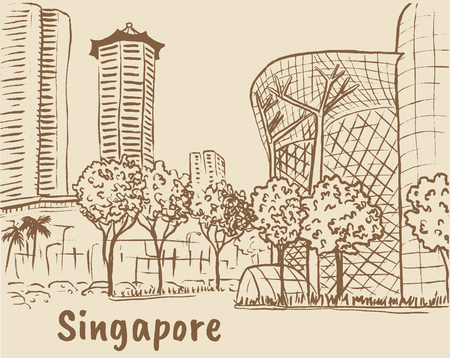 chinatown: Orchard Road in Singapore