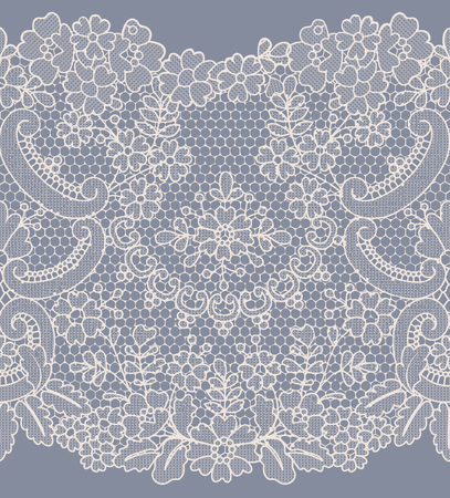 lace pattern: Seamless beige and gray lace background with floral pattern