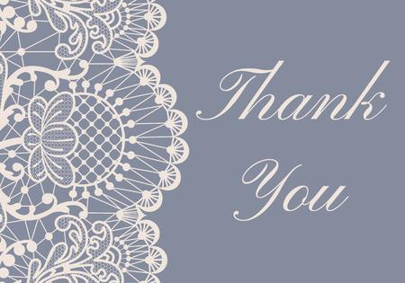 lace pattern: Wedding card