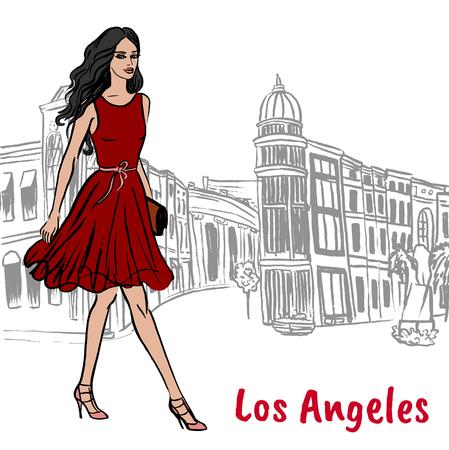 Walking woman Illustration