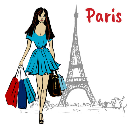 woman in Paris Stock Photo