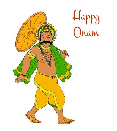 sravanmahotsav: Happy Oman. King Mahabali. Greeting card for South Indian festival