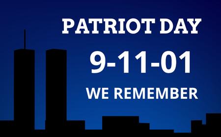 Patriot Day background vector illustration.