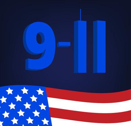 Patriot Day poster vector illustration.