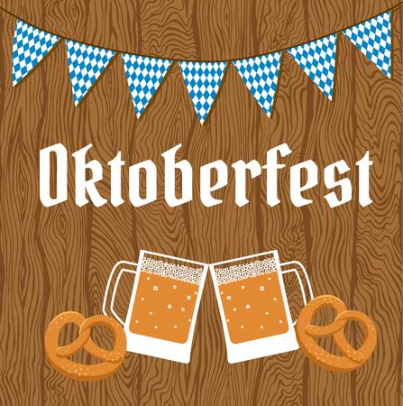 pretzel: Oktoberfest poster with bunting