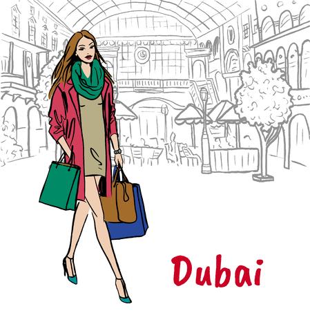 woman in shopping mall in Dubai