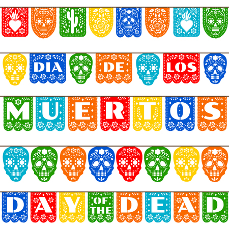 bunting for Day of the Dead Ilustracja