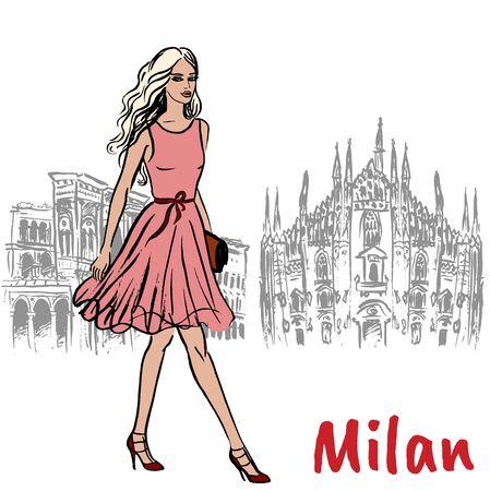 woman in Milan