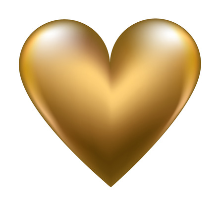 Golden shiny heart Vectores