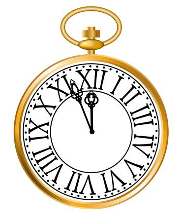 Montre de poche en or Banque d'images - 89863621