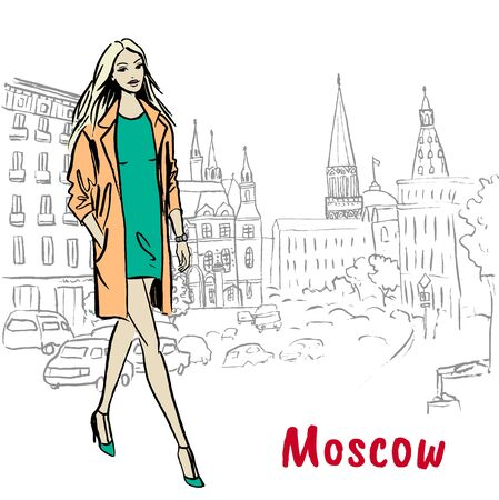 Woman   in Moscow.