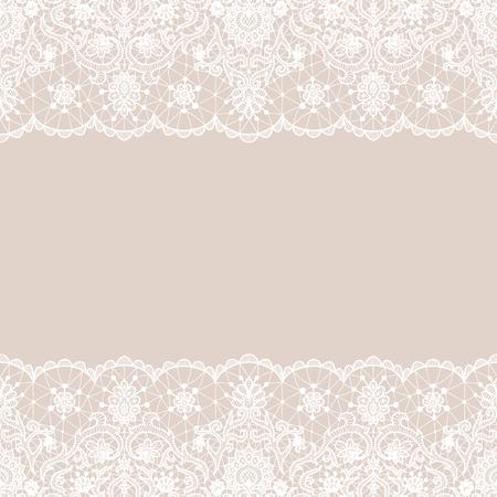 Dentelle blanche transparente Illustration vectorielle.
