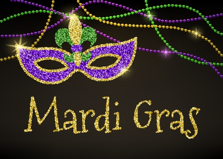Mardi Gras card 向量圖像