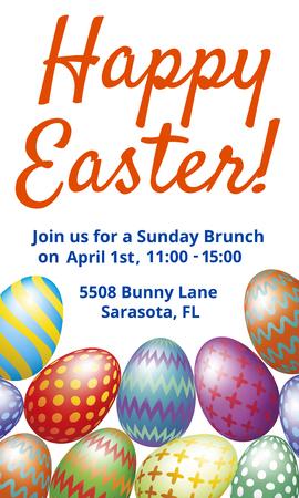 Easter Brunch invitation card