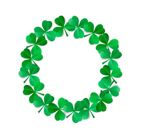 Saint Patrick's wreath isolated on white background.
