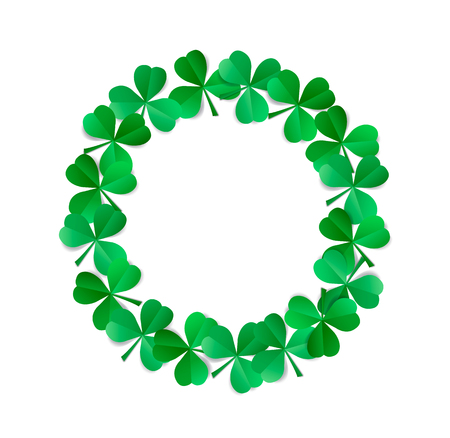 Saint Patrick's wreath isolated on white background. Фото со стока - 95575658