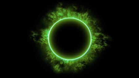 Green fire ring 写真素材