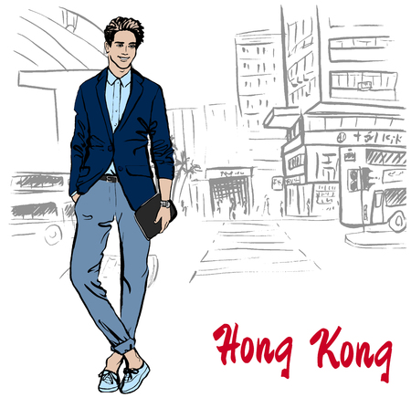 Man in Hong Kong street