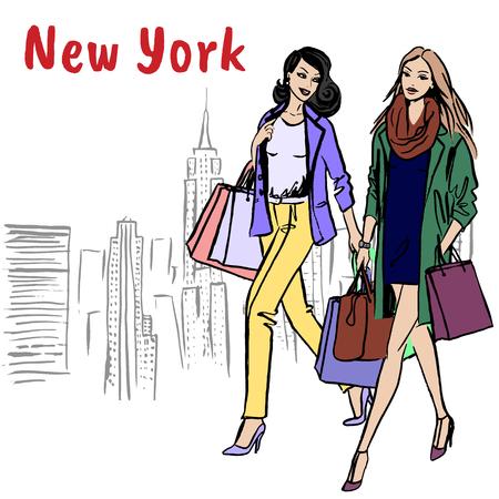 Women walking in New York