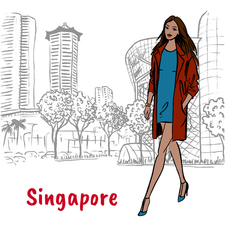 woman with shopping bags on Orchard Road