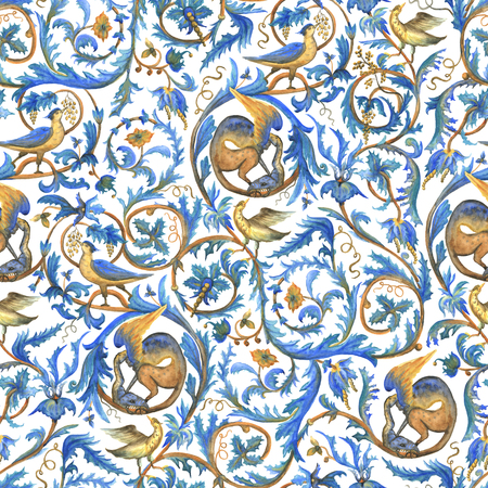 Victorian seamless pattern Stock Photo