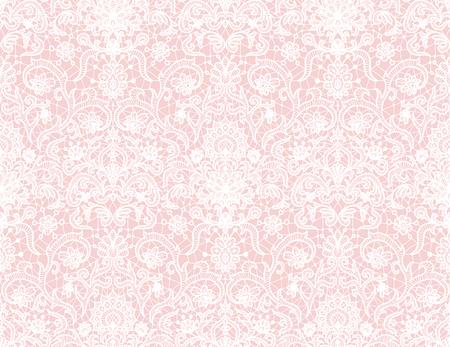 Fond de dentelle rose transparente avec motif floral