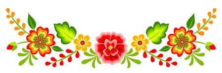 Motif floral mexicain
