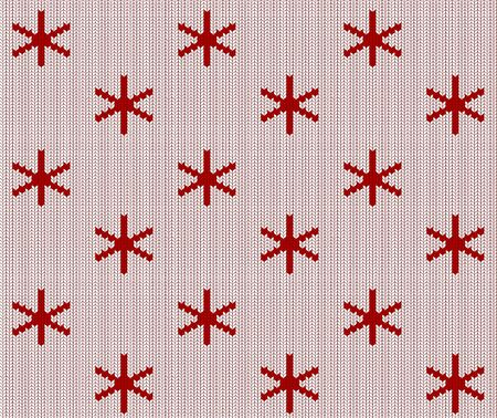 Seamless knitted white and red pattern. Christmas backgroung Stock Illustratie