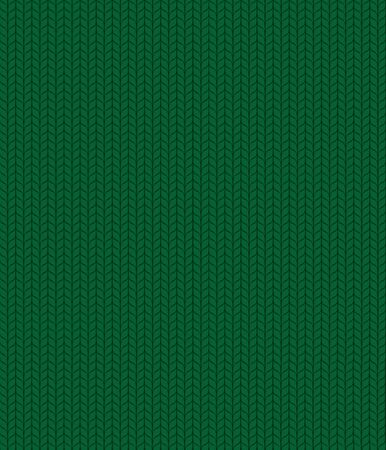 Seamless knitted green pattern. Christmas backgroung Stock Illustratie