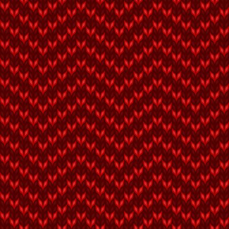 knitted red pattern