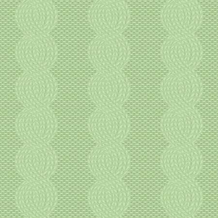 cable knit green pattern Stock Illustratie