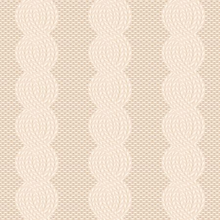 cable knit beige pattern