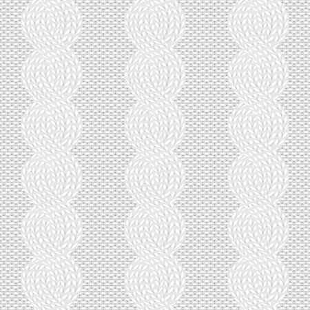 cable knit white pattern