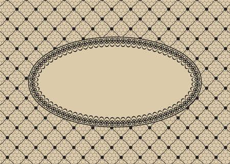 Lace card Vektorgrafik